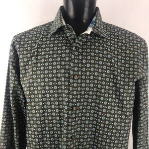 Men's Thomas Dean Casual Button Down Shirt 2xlt